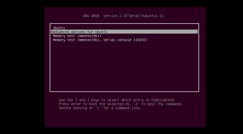 how to get out of recovery mode ubuntu